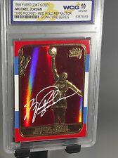 Michael Jordan 23kt Gold Red Holo Refractor Signature Series Graded 10 NBA 🔥🔥