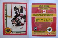 2015 SCA Zac Bierk rare Minnesota Wild goalie never issued produced #d/10