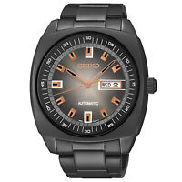 New Seiko SNKM99 Recraft Automatic Black Ion Stainless Steel Bracelet Mens Watch
