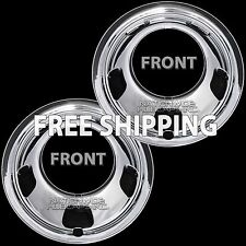 "2 Front 2003-18 DODGE RAM 3500 17"" Chrome Dual Wheel Simulators Dually Rim Cover"