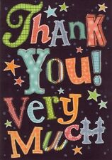 Thank You Very Much Greeting Card Great Value Greetings Cards