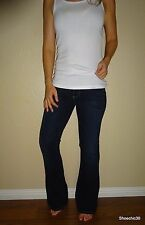 NWOT Laurel Canyon Paige sexy Stretch Rebellious MidRise Boot Cut Dark Jeans 27