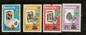 1975 Bermuda World Bridge Championship #312-15 MNH