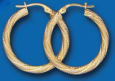 Pendientes De Aro Amarillo Oro Aros Criollo Cuerda Twist 25 mm caracteriza