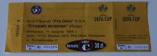 old TICKET UEFA Polonia Warszawa Poland Dynamo Moscow Russia