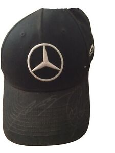 Mercedes AMG F1 Lewis Hamilton And Valtteti Bottas Signed Cap From Silverstone