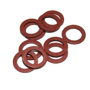 """1/2"""" Red Fibre Washer for Service Valve/Tap Connector (Pack Of 10)"""