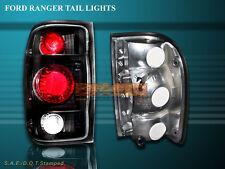 1998-2000 FORD RANGER TAIL LIGHTS JDM BLACK 98 99 00 00 LAMPS