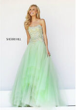 a5c8841c8ea Sherri Hill 11082 Green Beaded Strapless Ball Prom Homecoming Gown Dress  Size 4
