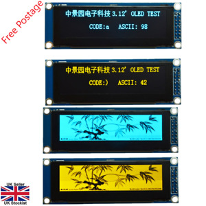 """SPI 3.12"""" 256x64 Graphic OLED Display Module SSD1322 Arduino STM32/51 PIC ARM"""