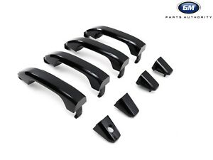 2015-2018 Silverado Sierra Gloss Black Door Handles 84713668 GBA Genuine OEM GM