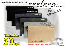 20sqm CAMPERVAN VEL SOFT TRIM STRETCH CARPET VAN LINING CAR