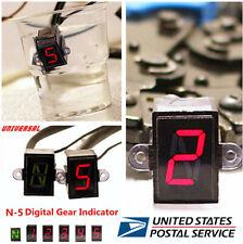 12V Waterprof Universal Motorcycle 5 Speed Red Digital Display Gear Indicator