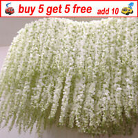 2M Artificial Ivy Garland Silk Wisteria Leaf Garden Hanging Vine Flowers Wedding