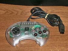 Sega Genesis High Frequency Turbo 6-Button TRANSPARENT Controller!