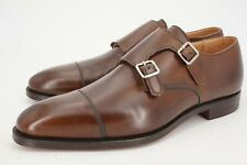 $690 | NEW CROCKETT & JONES LOWNDES UK 8 E US 9 D DOUBLE MONK STRAP BROWN 341