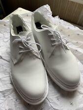Dr Martens 1461 Mono Faux Fur Lined White Shoes