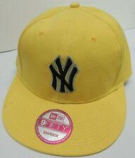 NEW YORK YANKEES Snapback 9FIFTY Flat Bill MLB Cap/Hat - Yellow - New Era