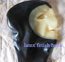 Sexy  Latex Rubber Hood Mask  For Unisex Cosplay Party Wear 1
