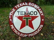 Texaco porcelain sign advertising vintage gasoline 20 Inches oil old gas Usa Tex