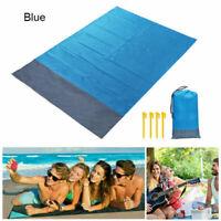 US 2M Camping Picnic Blanket Sand Free Beach Mat Waterproof Tent Outdoor BBQ Pad