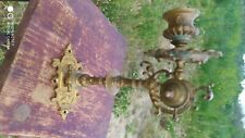 Antique XIX c. gilded  brass piano candle holder
