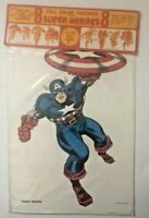 Marvel Personality Posters Vintage Sealed 1966 MMMS Captain America Spider-Man