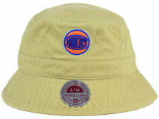 New York Knicks Mitchell and Ness NBA Gray Tan Bucket Cap Hat size S/M