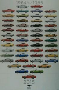 Mustang 50 YEARS 1964 1/2 to 2015 Poster * Collectors Item * Ships FREE To USA!