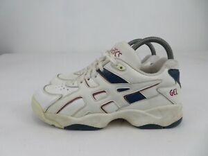 Vintage 1990s Asics Gel Shoes SL559 Athletic White Blue Womens Size 7.5