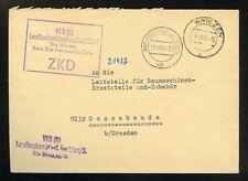 DDR-DIENST ZKD-BRIEF VEB LANDBAU WRIEZEN 19.11.1964 !!! (953469)
