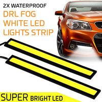 2x 12V Waterproof Universal Car COB LED Daytime Running DRL Strip Fog Lamp Light
