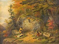 Pinturas De Paisaje Otoño Canadá chippeway Indio krieghoff lv3185