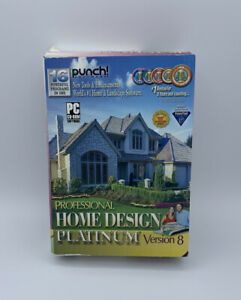 Punch Software Professional Home Design Platinum Version 8 Open Box
