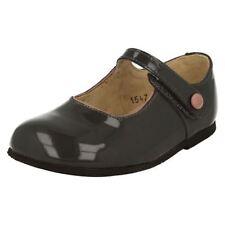 Chaussures habillées gris avec attache auto-agrippant pour fille de 2 à 16 ans