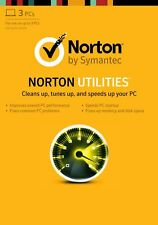 NEW SYMANTEC NORTON UTILITIES 16 LATEST, FOR 3 PC, DUPLICATE FILE FINDER, SYSTEM