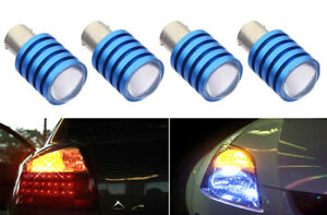 2 pairs 7.5W LED Chips Yellow Halogen Rear Front Turn Signal Light Bulb Z90