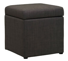 High Quality GREY Fabric Storage Footstool / Ottoman / Pouffe / Foot Rest /Stool