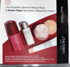 SHISEIDO Benefiance EYE CREAM, Cleanser, ULTIMUNE, Oil Free UV Protector SPF 42
