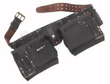 11 poches Double outil ceinture pochette Marteau Boucle Deluxe Huile Cuir Tanné BlueSpot