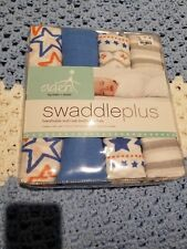 ADEN & ANAIS Infant Swaddle Plus Multi-Use Breathable Muslin Blankets STARS NEW