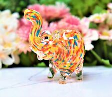 """3.5"""" Rainbow Elephant Tobacco Glass Pipe Smoking Herb Bowl Hand Pipes Gift"""