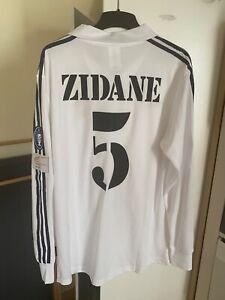 Maillot de football Real Madrid ZIDANE 2002 taille S-M-L-XL en état neuf