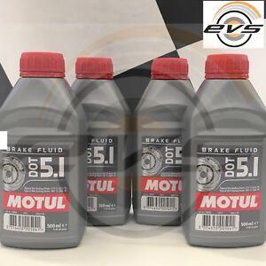 Motul DOT 5.1 Brake Fluid Olio Freni Auto Moto con ABS 100% Sintetico 4 X 500ml