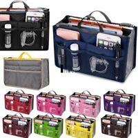Women Travel Insert Handbag Organiser Purse Large Liner Organizer Tidy Bag New