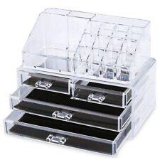 Organizer Box Porta trucco Portagioie Espositore Cosmetici 4 Cassetti
