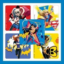 10 DC Super Hero Girls Stickers Wonder Woman Supergirl Batgirl Harley Quinn