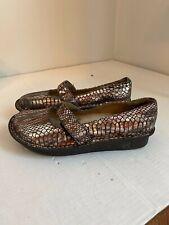 Alegria FEL709 Size 40 Feliz Metallic Patent Leather Snake Print Shoes GUC  D5