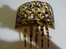 Antique Large Spanish Faux Tortoise Shell Hair Comb