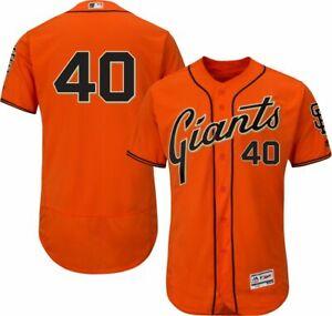 Madison Bumgarner #40 San Francisco Giants Men's Majestic Orange Jersey